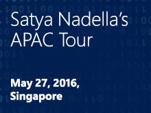 Satya Nadella in Singapore