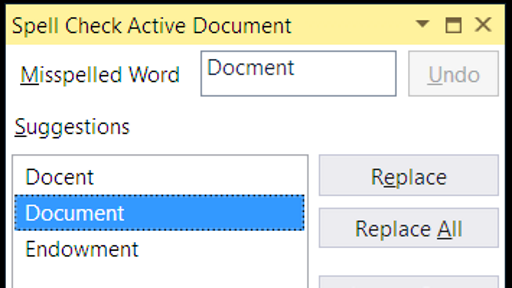 Spell Checker for VS 2017
