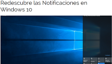 Redescubre las notificaciones en Windows 10
