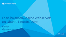 Load-balanced Apache Webservers on Ubuntu Linux in Azure