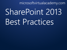 SharePoint 2013 Best Practices