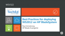 Best Practices for deploying WS2012 on HP BladeSystem