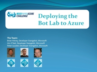 Rock Paper Azure Challenge - Part 4 (of 5) - Deploying The Bot Lab To Azure