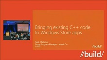 Bringing existing C++ code to Windows Store apps