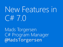 New Features in C# 7.0