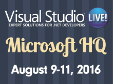 Visual Studio Live! Redmond 2016