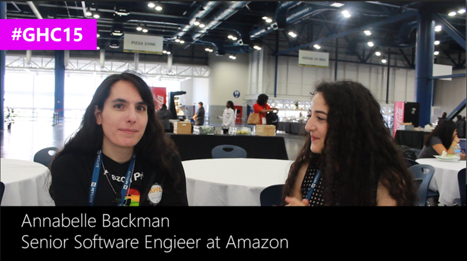 Interview with Annabelle Backman, Senior Software Engineer at Amazon at #GHC15